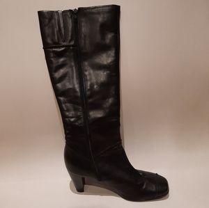 Freeflex black long boot  woman